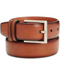 Cole Haan - Men's Leather Burnished-edge Pinch Belt - Lyst