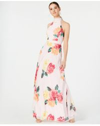 Laundry by Shelli Segal - Printed Tie-back Gown - Lyst