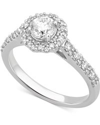 Macy's - Diamond Halo Engagement Ring (1/2 Ct. T.w.) In 14k White Gold - Lyst