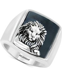 Effy Collection - Men's Hematite (19 X 15-1/2mm) Lion Ring In Sterling Silver - Lyst