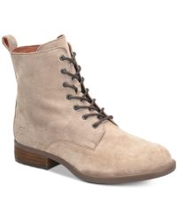 Born - Remy Lace-up Combat Booties - Lyst