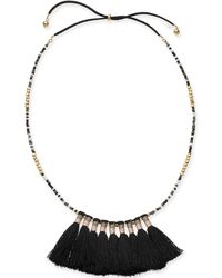 """INC International Concepts - I.n.c. Gold-tone Bead & Tassel 20"""" Slider Necklace, Created For Macy's - Lyst"""