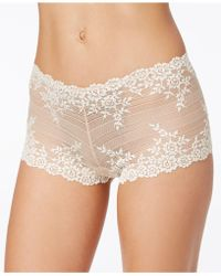 Wacoal - Embrace Embroidered Boyshort 67491 - Lyst