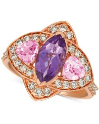 Le Vian - ® Multi-gemstone (1-9/10 Ct. T.w.) & Nudetm Diamond (5/8 Ct. T.w.) Ring In 14k Rose Gold - Lyst
