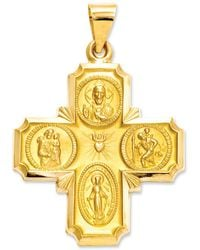 Macy's | 14k Gold Charm, Four-way Medal | Lyst
