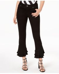 INC International Concepts - I.n.c. Frayed Ruffle-hem Jeans, Created For Macy's - Lyst