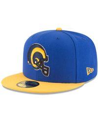796df461a9f Lyst - KTZ St Louis Rams Onfield Dog Ear 59fifty Cap in Blue for Men