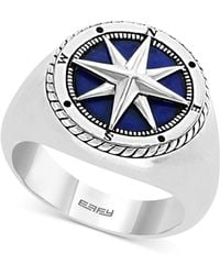 Effy Collection - Lapis Lazuli Compass Ring In Sterling Silver - Lyst
