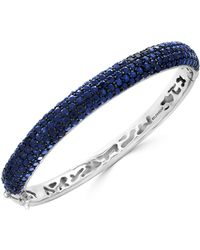 Effy Collection - Sapphire Pavé Bangle Bracelet (10 Ct. T.w.) In Sterling Silver - Lyst