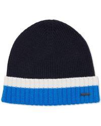BOSS - Virgin Wool Beanie Hat - Lyst