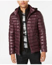 Calvin Klein - Packable Down Hooded Puffer Jacket - Lyst