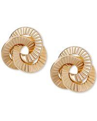 Macy's - Textured Love Knot Stud Earrings In 10k Gold - Lyst