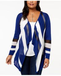INC International Concepts | Plus Size Colorblocked Cascade Cardigan | Lyst