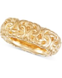 Signature Gold - Byzantine-inspired Ring In 14k Gold Over Resin - Lyst