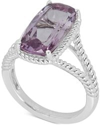 Macy's - Mystic Quartz Rope Frame Statement Ring (4 Ct. T.w) In Sterling Silver (also In Amethyst & Blue Topaz) - Lyst