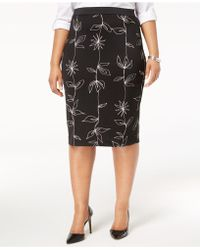 Alfani - Plus Size Printed Pencil Skirt, Created For Macy's - Lyst
