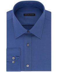 Sean John - Classic/regular Fit Solid Blue Dress Shirt - Lyst