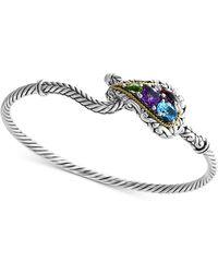 Effy Collection - Effy® Multi-gemstone Bracelet (2-1/3 Ct. T.w.) In Sterling Silver & 18k Gold - Lyst