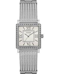 Guess - Women's Stainless Steel Mesh Bracelet Watch 28mm 28mm U0826l1 - Lyst