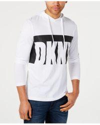 DKNY - Logo Graphic Hoodie - Lyst