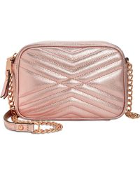 INC International Concepts - I.n.c. Glam Metallic Quilted Camera Crossbody, Created For Macy's - Lyst