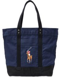 Lyst - Polo Ralph Lauren Us Open Large Canvas Tote in Blue 19db2e5864