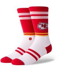 Stance - Kansas City Chiefs Logo Crew Socks - Lyst