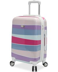 "Steve Madden - Stripes 24"" Expandable Hardside Spinner Suitcase - Lyst"