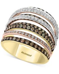 Effy Collection - Final Call By Effy® Diamond Tri-gold Ring (1-3/4 Ct. T.w.) In 14k Gold, White Gold & Rose Gold - Lyst