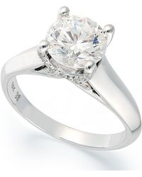 X3 - Certified Diamond Solitaire Engagement Ring In 18k White Gold (1-1/2 Ct. T.w.) - Lyst