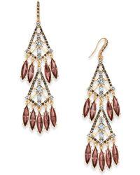INC International Concepts | Hematite-tone Shaky Stone Chandelier Earrings | Lyst