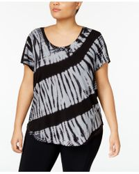 CALVIN KLEIN 205W39NYC - Plus Size Tie-dyed Striped Top - Lyst