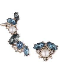 Marchesa - Gold-tone Crystal, Stone & Imitation Pearl Mismatch Earrings - Lyst