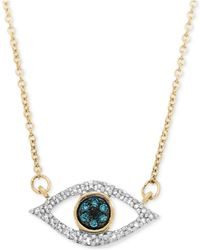 Wrapped in Love - Diamond Evil-eye Pendant Necklace (1/6 Ct. T.w.) In 10k Gold - Lyst