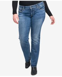 Silver Jeans Co. - Trendy Plus Size Straight-leg Jeans - Lyst