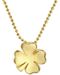 Alex Woo - Shamrock Pendant Necklace In 14k Gold - Lyst