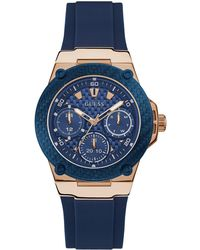 Guess - Blue Silicone Strap Watch 39mm - Lyst