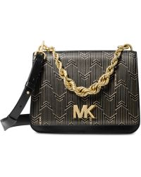 Michael Kors - Michael Mott Metallic Deco Chain Swing Shoulder Bag - Lyst