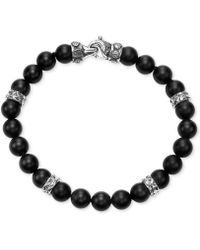 Scott Kay - Men's Onyx (8mm) Bracelet In Sterling Silver - Lyst