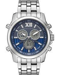 Sean John - Men's Portofino Analog-digital Silver-tone Bracelet Watch 47mm - Lyst