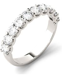 Charles & Colvard - Moissanite Round Anniversary Band (1 Ct. T.w. Diamond Equivalent) In 14k White Gold - Lyst