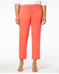 Charter Club - Plus Size Skinny Ankle Trousers, Created For Macy's - Lyst