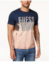 Guess - Foil-pieced T-shirt - Lyst