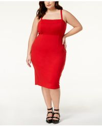 Soprano - Trendy Plus Size Lace-up Bodycon Dress - Lyst