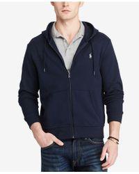 Polo Ralph Lauren | Men's Double-knit Full-zip Hoodie | Lyst