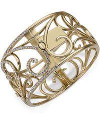 Danori - Gold-tone Pavé Openwork Bangle Bracelet, Created For Macy's - Lyst