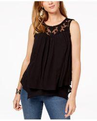 241c3c7f4bcac Lyst - Style   Co. Plus Size Cotton High-low Hem Sleeveless Top ...