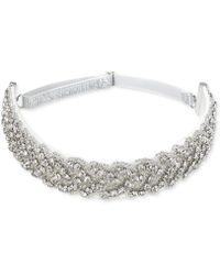 Badgley Mischka - Silver-tone Crystal Strap Headband - Lyst