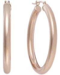 Macy's - Polished Hoop Earrings In 14k Rose Gold. - Lyst