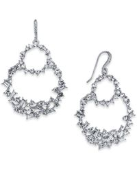 INC International Concepts - Silver-tone Crystal Double Loop Drop Earrings, Created For Macy's - Lyst